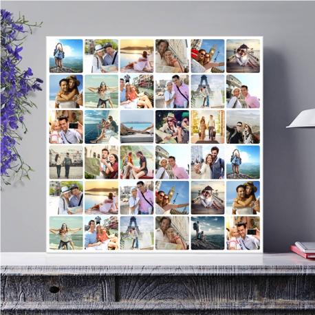 Egyedi - Fénykép kollázs vászonkép 6x6 (2cm-es vakráma kerettel)