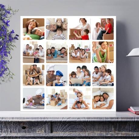 Egyedi - Fénykép kollázs vászonkép 4x4 (2cm-es vakráma kerettel)