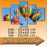 "Vászonkép - ""Quinary"" - 2db - 25x40cm , 2db - 25x60cm és 1db - 25x80cm"
