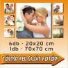 """Vászonkép - """"Week"""" - 6db - 20x20cm , 1db - 70x70cm"""