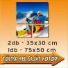 """Vászonkép - """"Trio Lying"""" - 2db - 35x30cm , 1db - 50x75cm"""