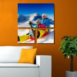 Vászonfotó saját fényképből - Trio Lying - 2db - 35x30cm , 1db - 50x75cm