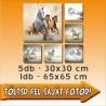 """Vászonkép - """"Six"""" - 5db - 30x30cm , 1db - 65x65cm"""