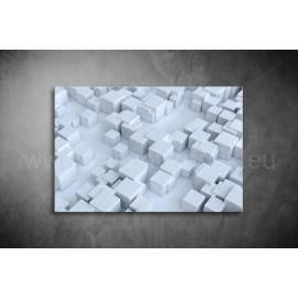 Fehér Kockák Vászonkép 003