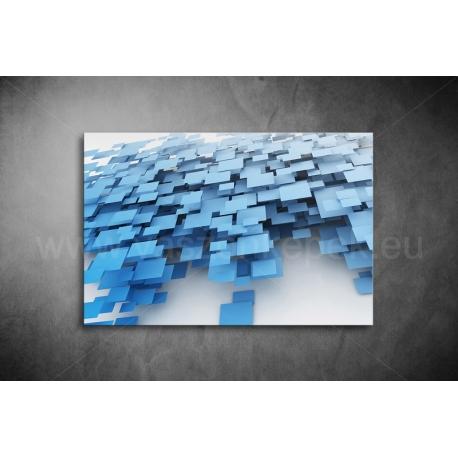 Kék Négyztekek Vászonkép 004