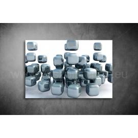 Ezüst Kocka Vászonkép 006
