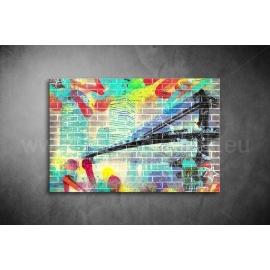 Graffiti, Tornyok, Híd Vászonkép 036