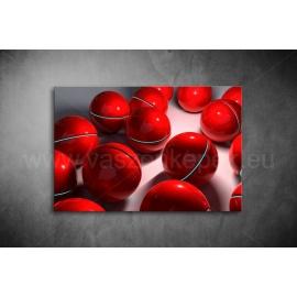 Piros Gömbök Vászonkép 060