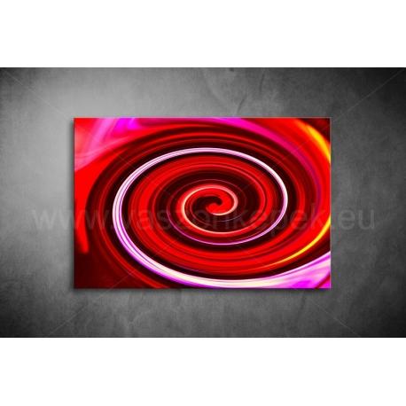 Piros Spirál Vászonkép 062
