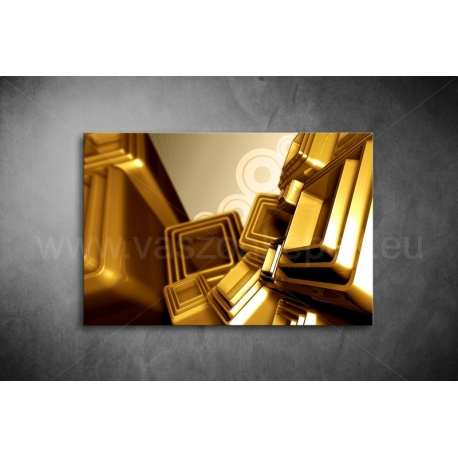 Arany Kocka Vászonkép 064