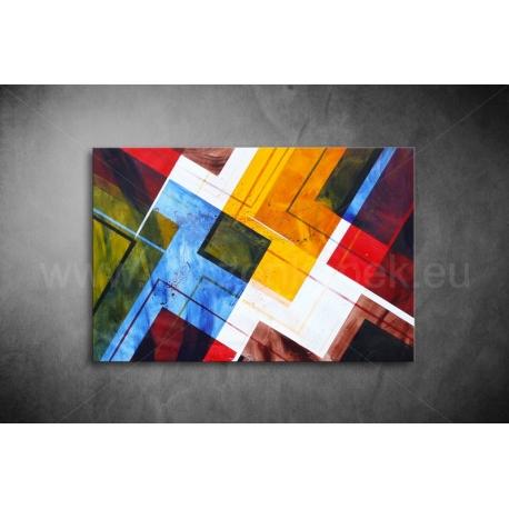 Színes Négyzetek Vászonkép 072