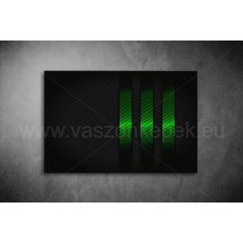 Zöld, Fekete Csíkok Vászonkép 076
