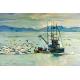 Halászhajó Vászonkép 030