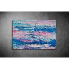 Kék és Rózsaszín Vászonkép 062