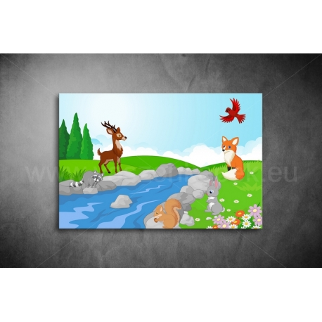 Erdei állatok Vászonkép 003