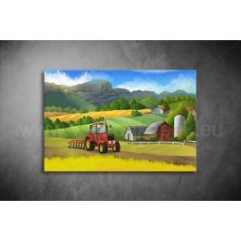 Traktor Vászonkép 007