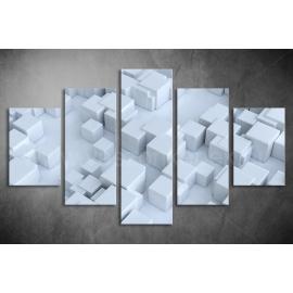 Többrészes Fehér Kockák vászonkép 003 - (választható formák)