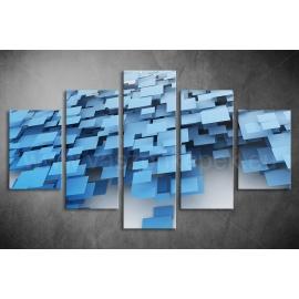 Többrészes Kék Négyzetek vászonkép 004 - (választható formák)