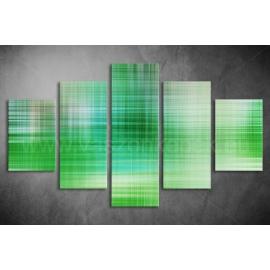 Többrészes Zöld Absztrakt vászonkép 014 - (választható formák)