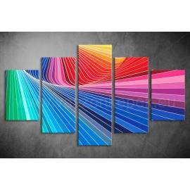 Többrészes Spektrum vászonkép 024 - (választható formák)