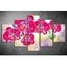 Többrészes Orchidea vászonkép 004 - (választható formák)