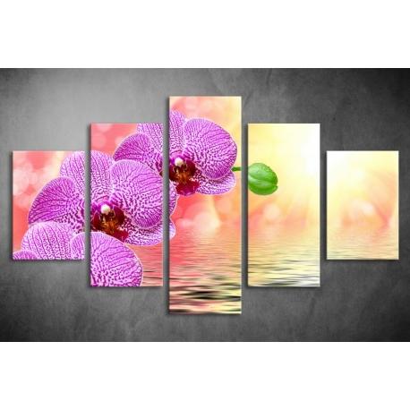 Többrészes Virágok vászonkép (választható formák)