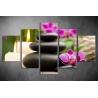 Többrészes Orchidea, Lávakövek vászonkép 010 - (választható formák)