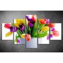 Többrészes Tulipános vászonkép 016 - (választható formák)
