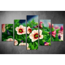 Többrészes Virágok vászonkép 022 - (választható formák)
