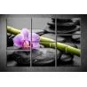 Többrészes Orchidea, Lávakövek vászonkép 023 - (választható formák)