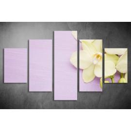 Többrészes Orchidea vászonkép 028 - (választható formák)