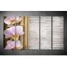 Többrészes Orchidea vászonkép 030 - (választható formák)