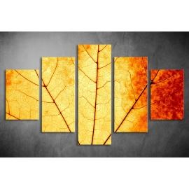 Többrészes Őszi levél vászonkép 032 - (választható formák)