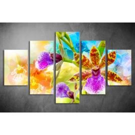 Többrészes Orchidea vászonkép 037 - (választható formák)