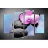 Többrészes Orchidea, Lávakövek vászonkép 052 - (választható formák)