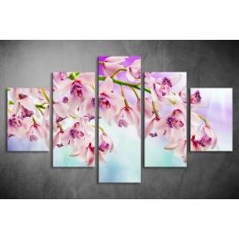 Többrészes Orchidea vászonkép 053 - (választható formák)