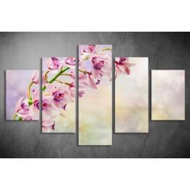 Többrészes Orchidea vászonkép 054 - (választható formák)