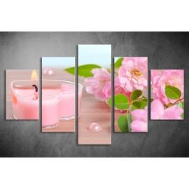 Többrészes Cseresznyevirág vászonkép 064 - (választható formák)