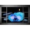 Többrészes Kék Orchidea vászonkép 066 - (választható formák)