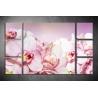 Többrészes Rózsaszín Orchideák vászonkép 067 - (választható formák)