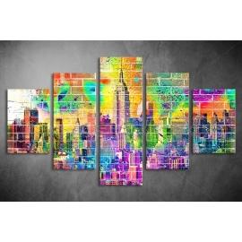 Többrészes New York Graffiti vászonkép 029 - (választható formák)
