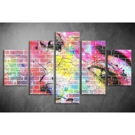 Többrészes Graffiti Arc vászonkép 030 - (választható formák)