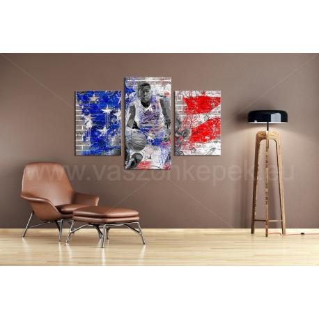 Többrészes Amerikai Kosaras vászonkép 031 - (választható formák)