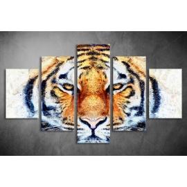 Többrészes Tigris vászonkép 050 - (választható formák)
