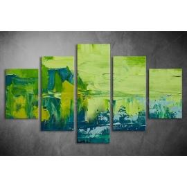 Többrészes Zöld festmény vászonkép 054 - (választható formák)