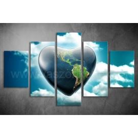 Többrészes Ég és Föld vászonkép 056 - (választható formák)
