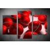 Többrészes Piros Gömbök vászonkép 060 - (választható formák)