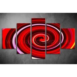 Többrészes Piros Spirál vászonkép 062 - (választható formák)