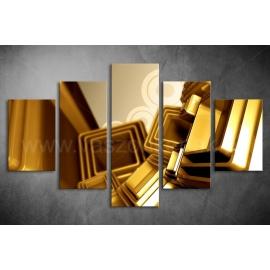 Többrészes Arany Kocka vászonkép 064 - (választható formák)