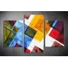 Többrészes Színes Négyzetek vászonkép 072 - (választható formák)